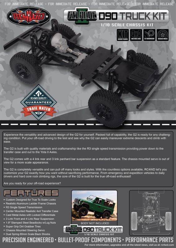 RC4WD Gelande II Truck Kit 1/10 Chassis Kit
