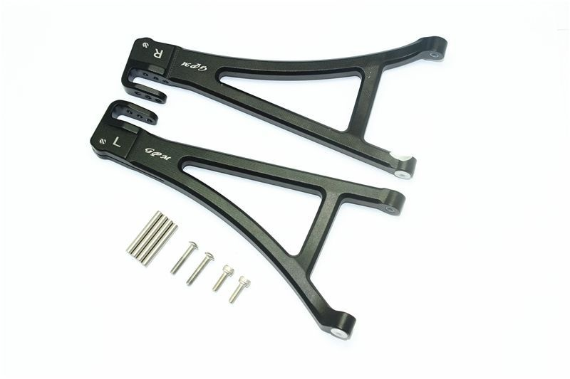 ALUMINUM FRONT LOWER SUSPENSION ARM -10PC SET black