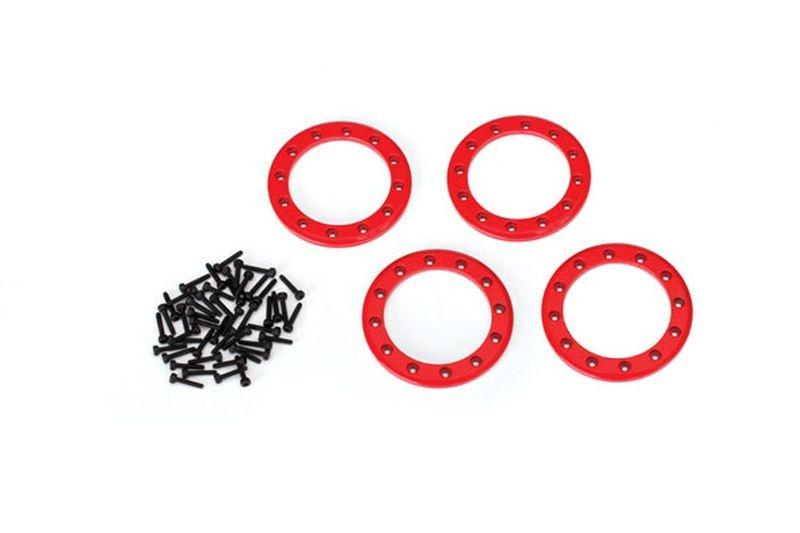 Beadlock Rings Rot (1.9) Alu (4) + Schrauben
