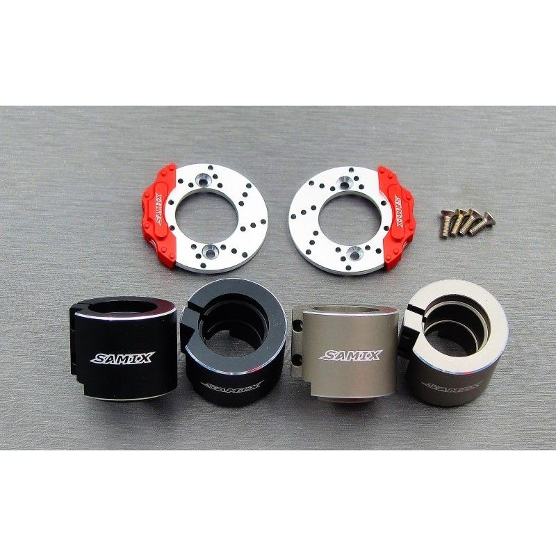 SAMIX SCX10-2 alum. black rear brake adapter