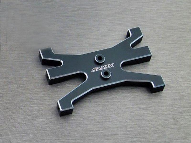 SAMIX TRX-4 alum black rear chassis brace
