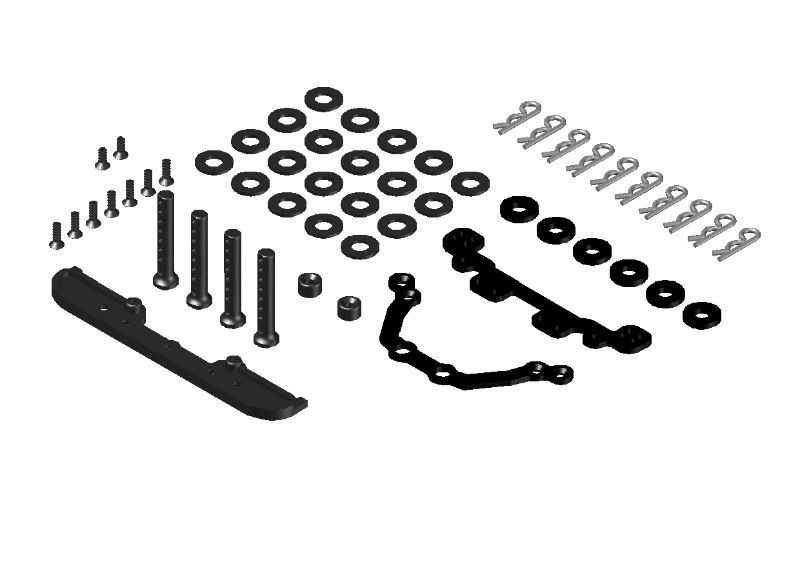 JR128-R01 Lexan Body Mount Set RTR & PRO-