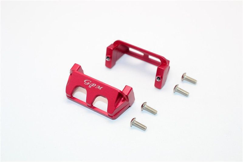 ALUMINIUM SERVO PROTECTOR - 2PCS SET red