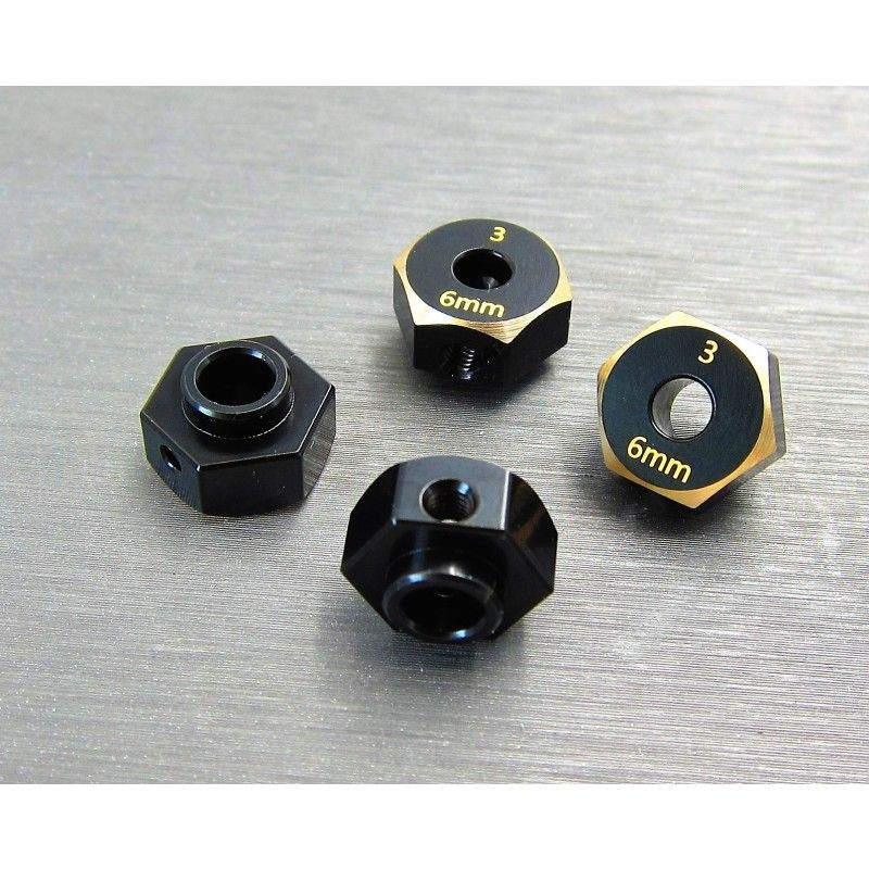 SAMIX SCX10-3 brass hex adaptar (6mm)