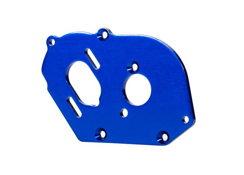 Motorplatte Alu blau 4mm