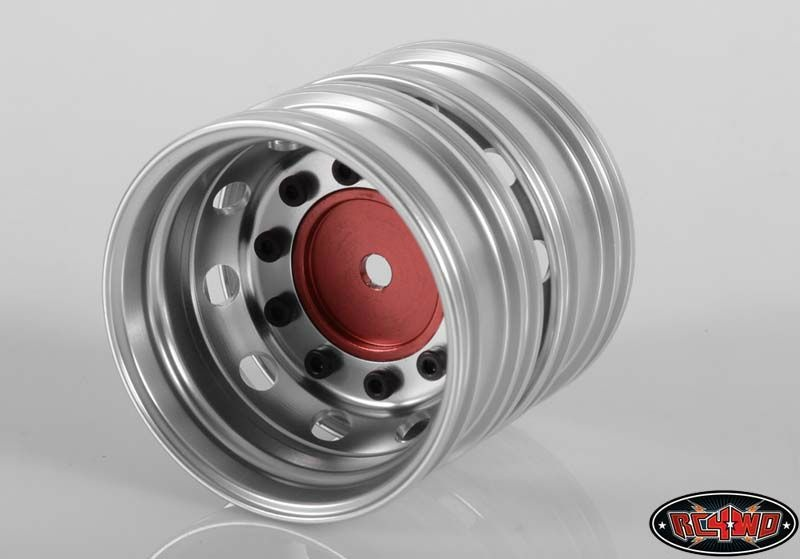 Boulder Semi Truck Rear Wheels with Scale Hub (Red) (2)