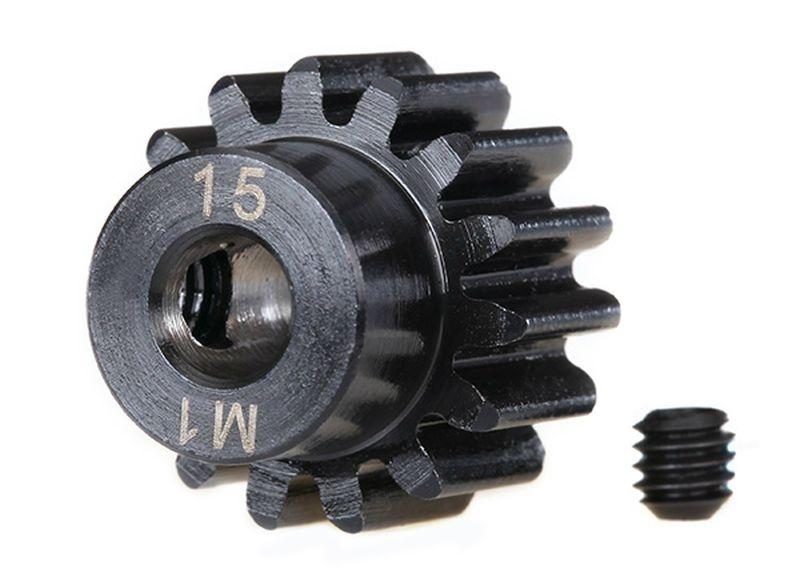 Zahnrad, 15-T Ritzel (1.0 Modul) 5mm Welle extra-hart