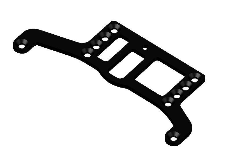 JR128-R01 Carbon Tridamper Motor Plate RTR-