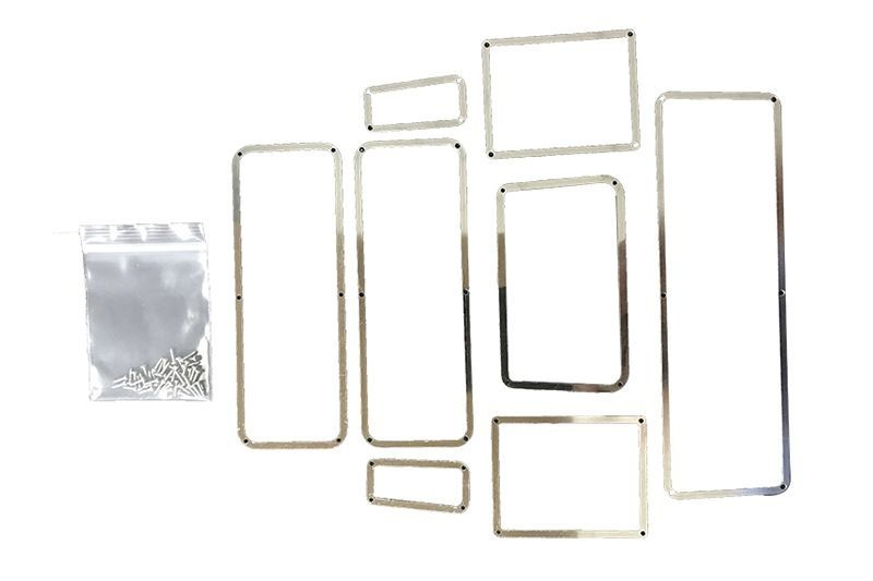 SCALE Acs stnl-steel WINDOW FRAME TRX-4 DEFENDER-8PCS