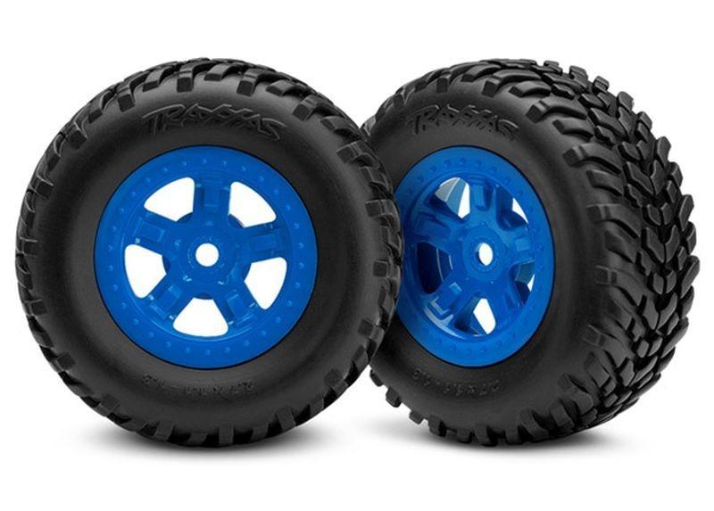 Reifen auf Felge (SCT blau 1 Paar re/li)