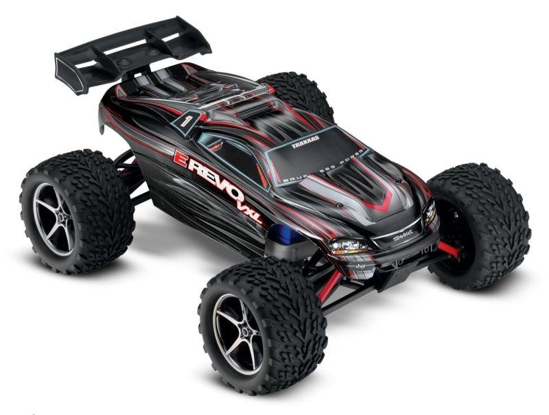TRAXXAS E-Revo 4x4 VXL schwarz RTR +12V-Lader+Akku
