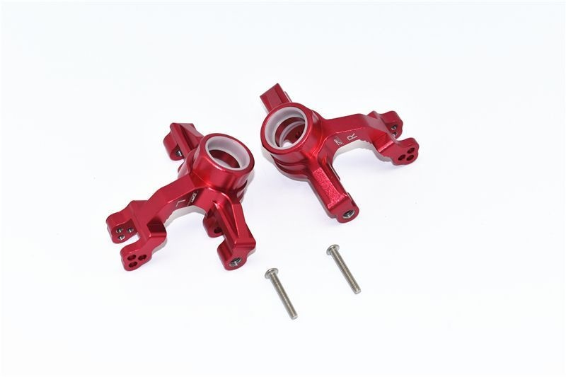 ALUMINUM FRONT KNUCKLE ARMS -4PC SET red
