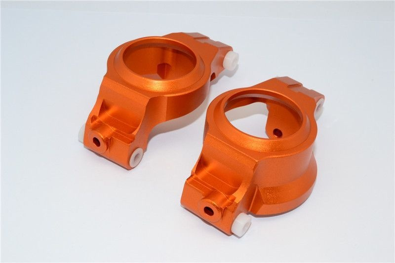 ALUMINIUM FRONT C HUBS -1PR orange