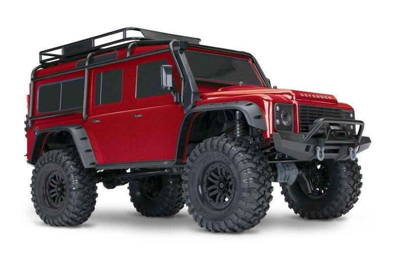TRAXXAS TRX-4 LR Defender 4x4 rot RTR ohne Akku/Lader