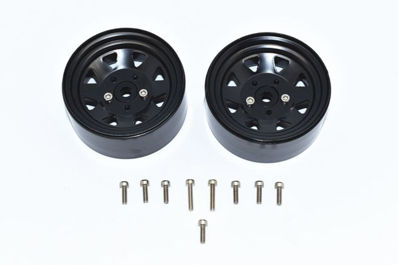 ALUMINUM WHEEL 1.9 FOR CRAWLERS -15PC SET black