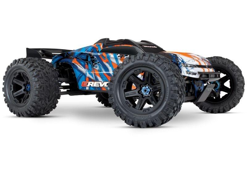 TRAXXAS E-Revo BL 2.0 4x4 VXL orange RTR ohne Akku/Lader