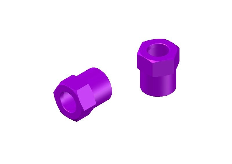 JR128-R01 Aluminium Tridamper Adjustment Nuts Purple-