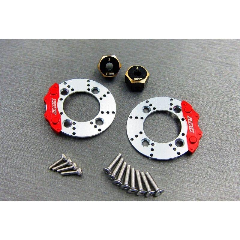 SAMIX SCX10-3 scale brake rotor caliper & 8mm hex set