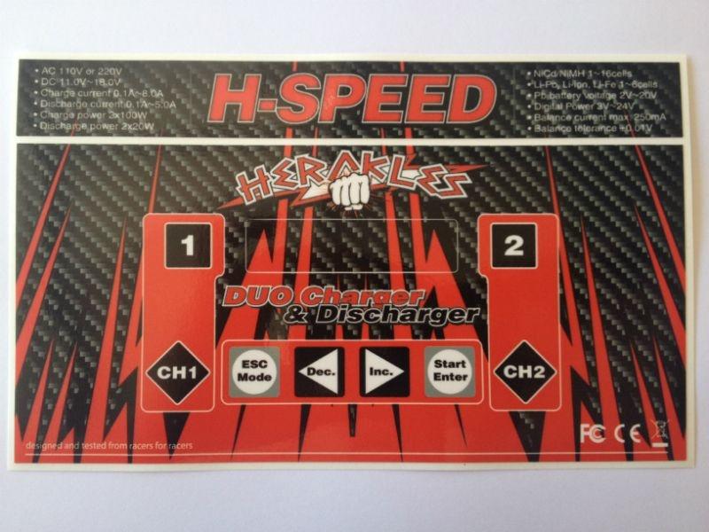 SLVR H-SPEED Dual Lader Aufkleber Spikes