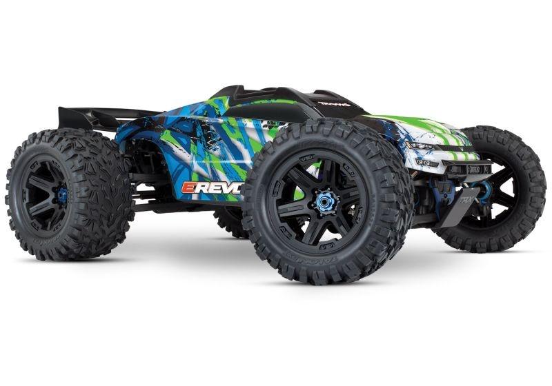 TRAXXAS E-Revo BL 2.0 4x4 VXL grün RTR ohne Akku/Lader