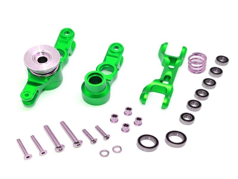 ALUMINIUM STEERING ASSEMBLY - 1SET green