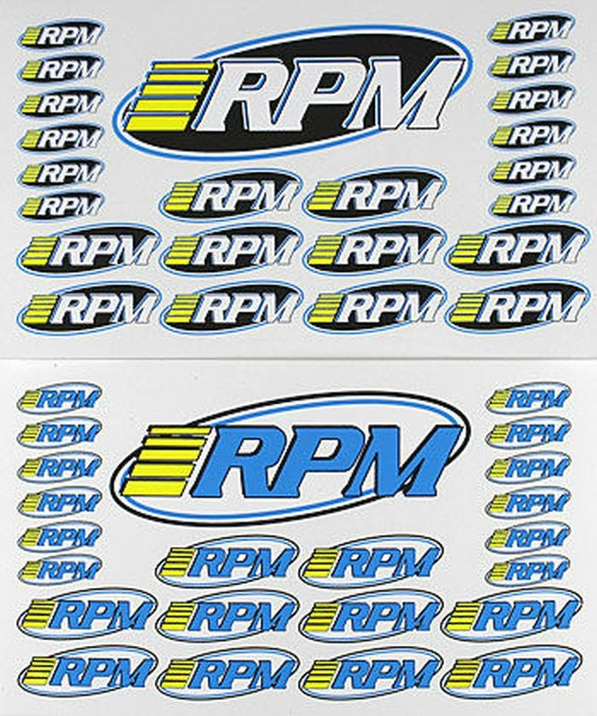 RPM Pro Logo Decal Sheets