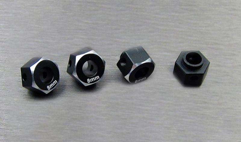 SAMIX TRX-4 alum black hex adaptar (8mm)