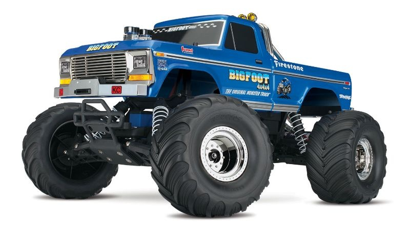 SLVR TRAXXAS BIGFOOT No.1  RTR +12V-Lader blau