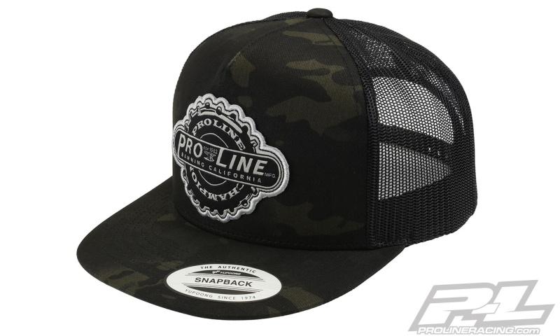 Pro-Line Manufactured Dark Camo  Trucker Snapack Hat
