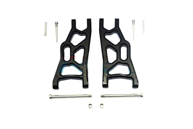 ALLOY FRONT LOWER ARM - 1PR SET black