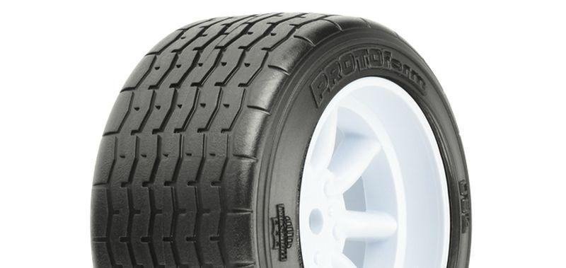 VTA Reifen hinten (31mm) auf Felge weiß verklebt