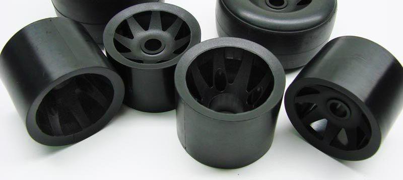 CRC GTR Felge für Gummi-reifen (4) schwarz
