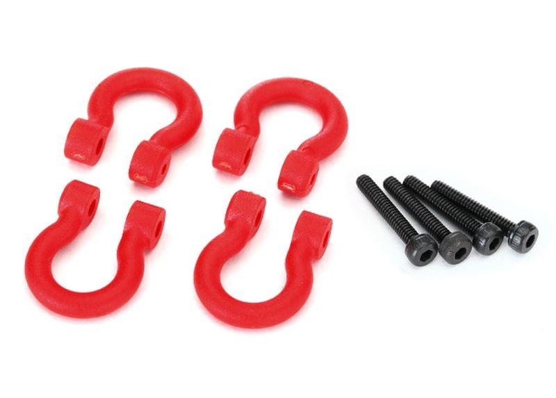 Bumper D-rings, red (v/h) 2.0x12 CS (4)