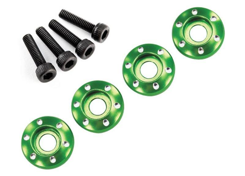 Alu-Radmuttern grün (4) 3x12 CS
