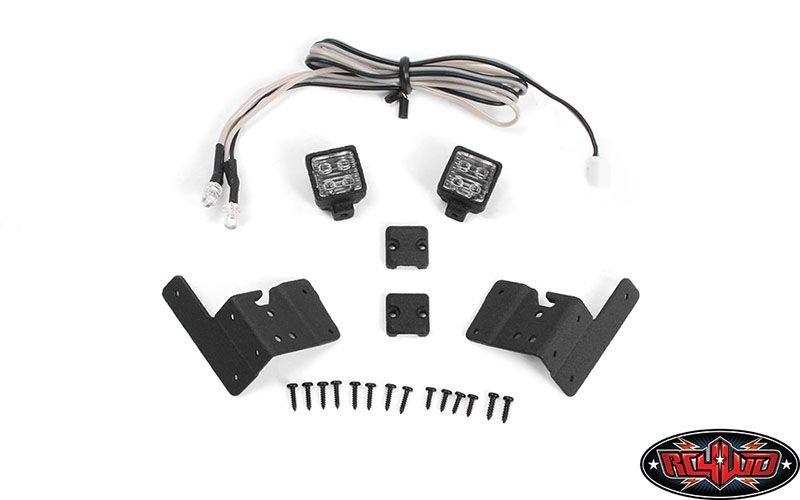 Pillar Lights w/ LED Light Kit for Axial 1/10 SCX10 III Jeep