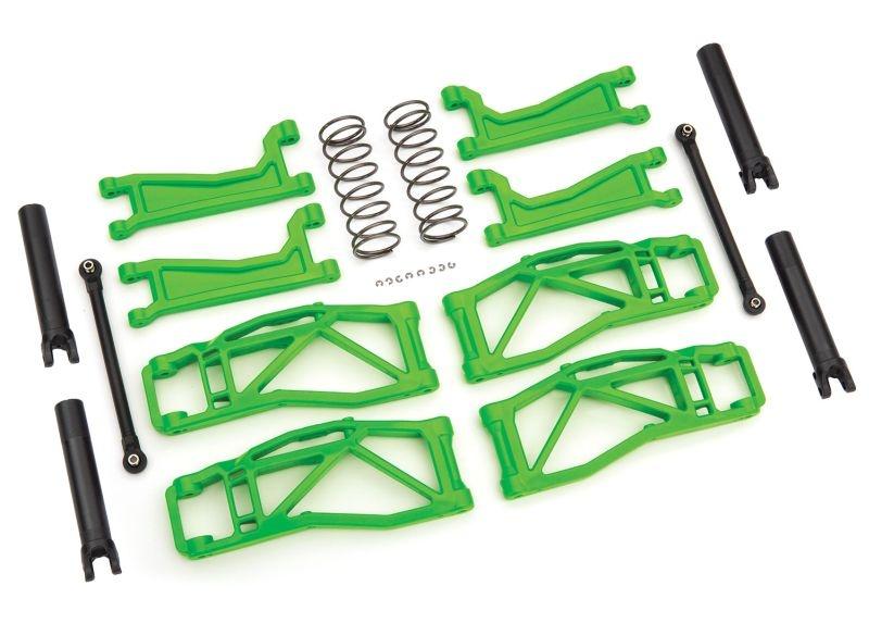 Querlenker-Set WideMaxx grün Querlenker, Spurstangen +Feder