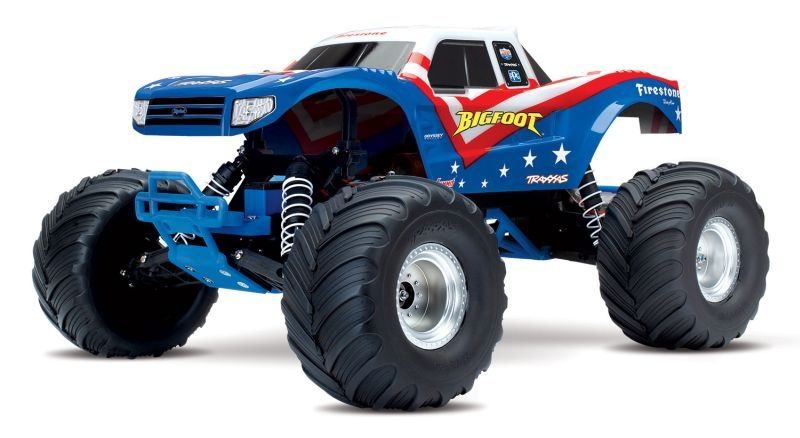 TRAXXAS BIGFOOT Rot/Weiß/Blau-Edition RTR +12V-Lader+Akku