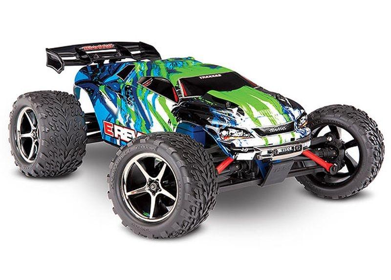 TRAXXAS E-Revo 4x4 grün RTR +12V-Lader+Akku