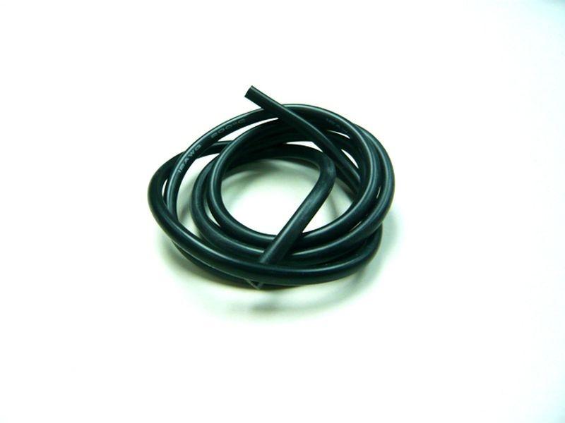 Kabel 100cm soft-silicone schwarz 12