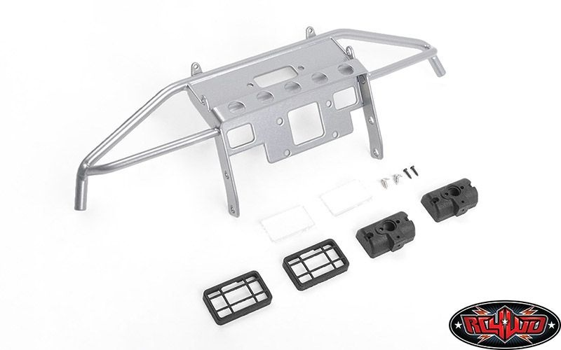 Guardian Steel Front Winch Bumper w/ Lights for Axial 1/10 S