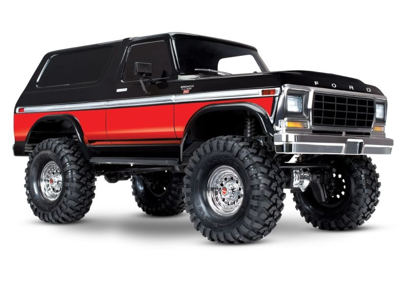 TRAXXAS TRX-4 Ford Bronco schwarz/rot 4x4 RTR o. Akku/Lader