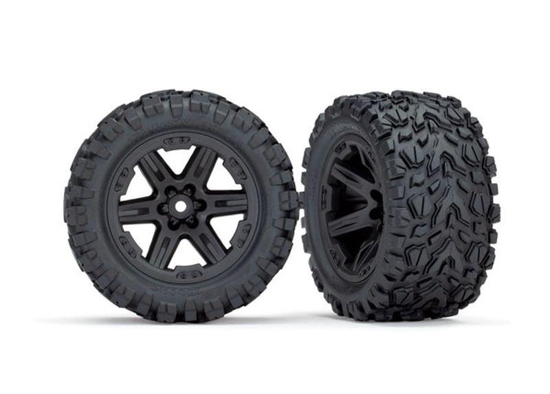 Reifen & Felgen montiert 2.8 (Rustler 4X4) Felgen schwarz (T