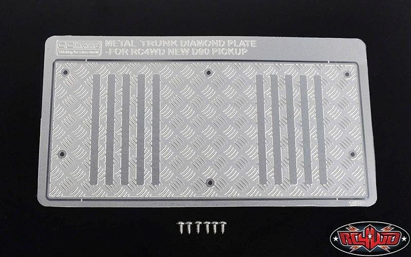 Steel Diamond Tailgate Plate for RC4WD Gelande II