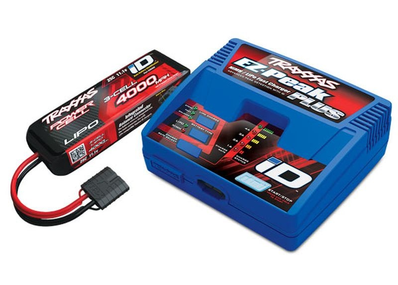 Completer Pack mit 2970GX iD Lader +2849X 4000mAh 11.1v LiPo