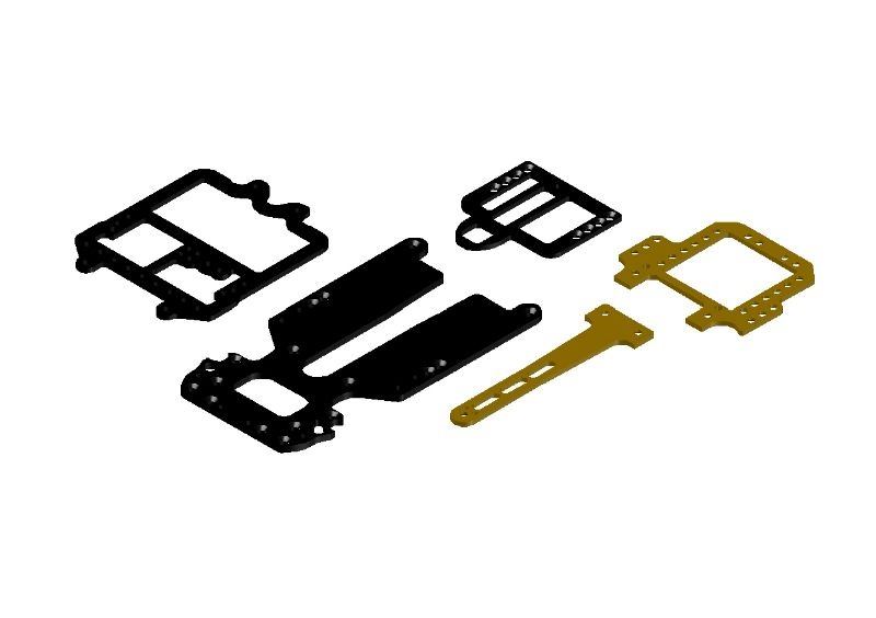 JR128-R01 Carbon & Brass Plate Set RTR-