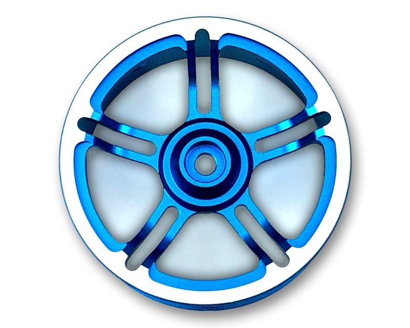 Alu Lenkrad blau