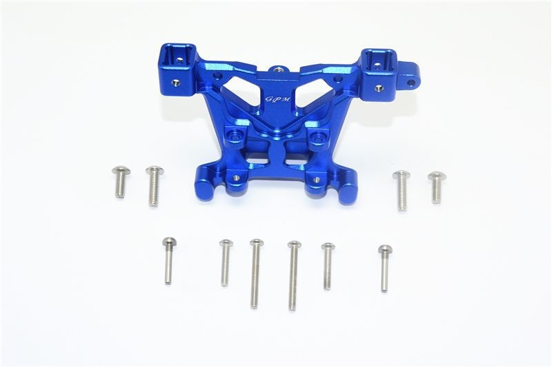 ALUMINUM REAR BODY POST MOUNT -11PC SET blue