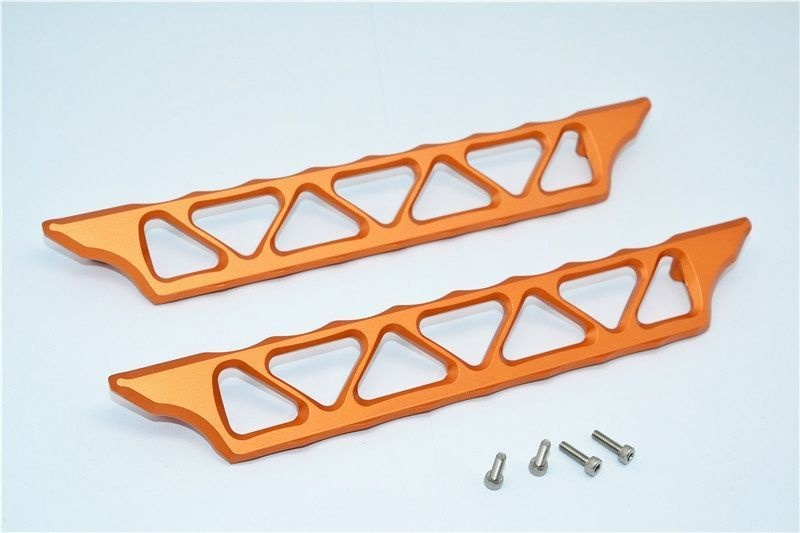 ALUMINIUM SIDE TRAIL - 2PCS SET orange