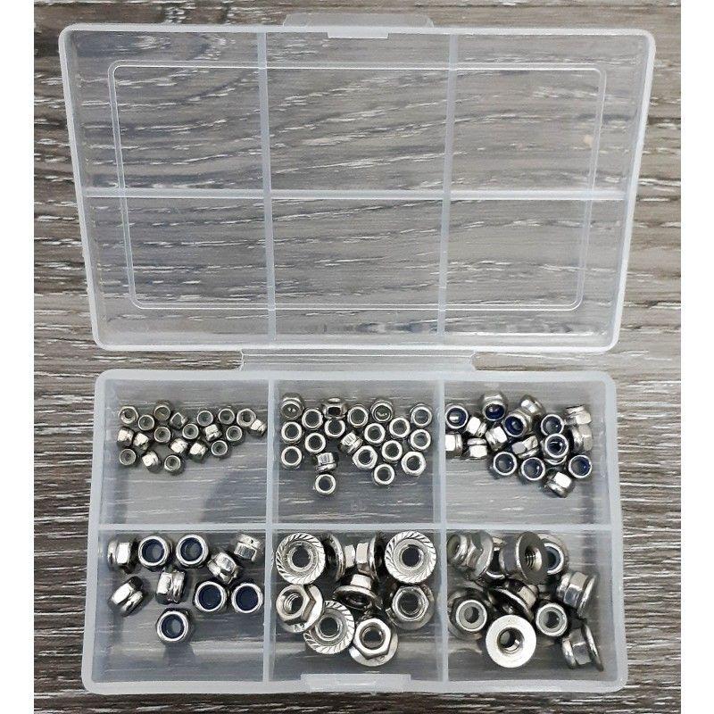 SAMIX 90pcs stainless steel lock nut (with plastics box)