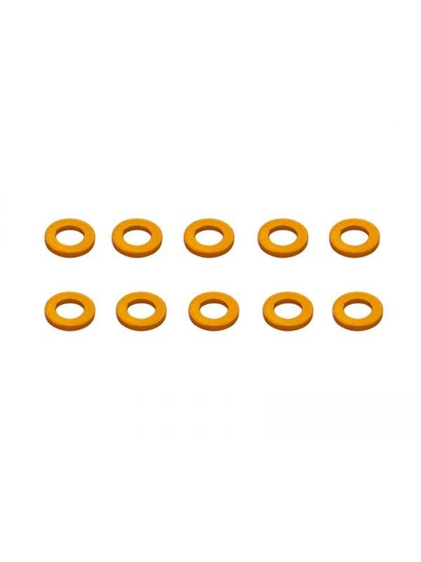 Alu Shims 4 x 7 x 1 Orange (10)